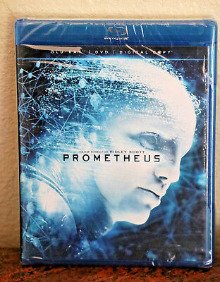 Prometheus, Blu-Ray And Dvd Widescreen (2012) New And Factory Sealed