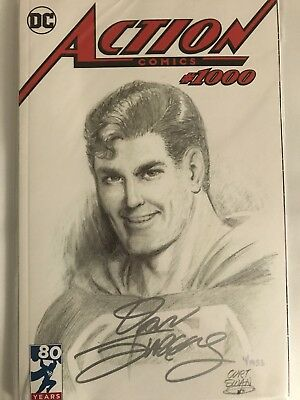 Action Comics #1000 DF Exclusive,Curt Swan Variant Signed By Dan Jurgens / COA