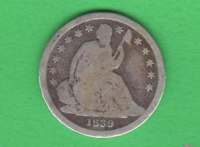 1839 Seated Liberty Dime-3Rd Yr Minted-179 Years Old