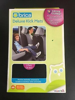 Brica Deluxe Kick Mats 2 Count Grime Guard by Munchkin 18in x 23in Universal Fit