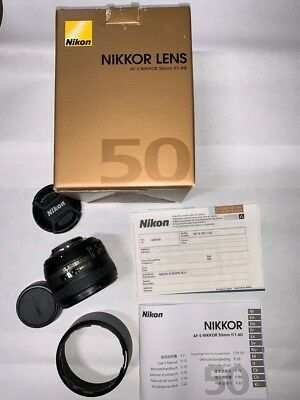 Nikon NIKKOR AF-S 50mm f/1.4 G Lens - AS NEW; boxed and all paperwork