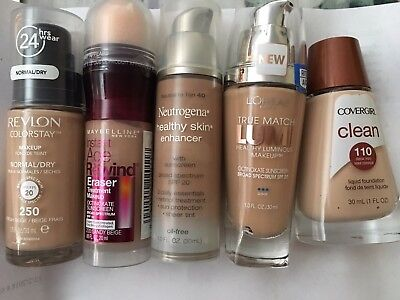 Loreal Maybelline Revlon Neutrogena CoverGirl Liquid Makeup