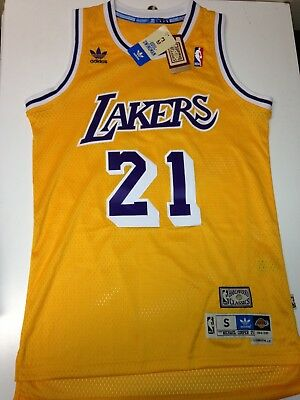 90452865f Authentic LA Lakers Michael Cooper Adidas Soul Swingman Jersey Gold NBA  Small