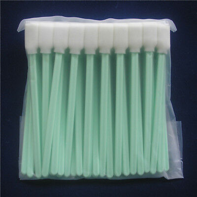 100 Pcs Tipped Cleaning Solvent Swabs Foam For Epson Mutoh Mimaki Roland Printer