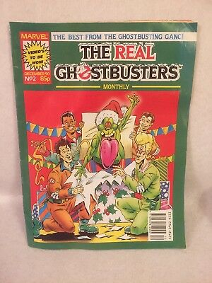 Vintage The Real Ghostbusters Comic December 1990 No-2 Christmas Edition. Marvel