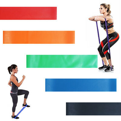Resistance Bands - Tube Workout Exercise Elastic Band Fitness Equipment Yoga UK