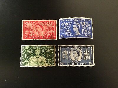 GB QEII1953 Coronation set fine used