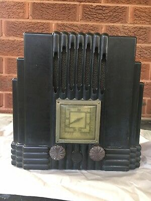 Awa Empire State Radio Black Bakelite, The Fisk Radiolette C1930'