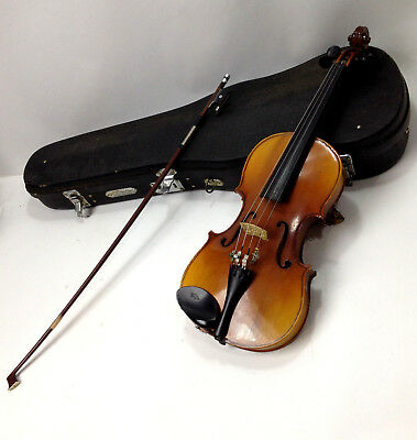 Vintage 1/2 Size Chinese Violin in Case