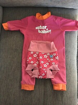 Water Babies Swimming Costume & Happy Nappy