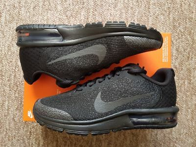 25b21b576b3 NIKE AIR MAX Sequent 2 GS Black Womens Girls Junior Gym Trainers Uk ...