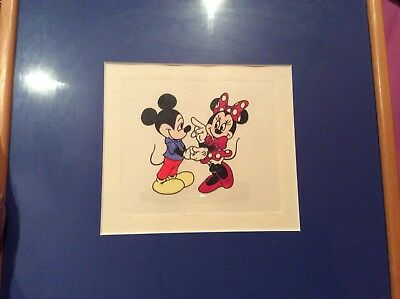 Official Disney Painting Print Collectable Artwork Framed ** Mickey & minnie ***
