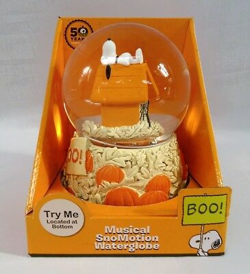 50th Anniversary Peanuts Snoopy Pumpkin Patch Snow Globe Charlie Brown Christmas