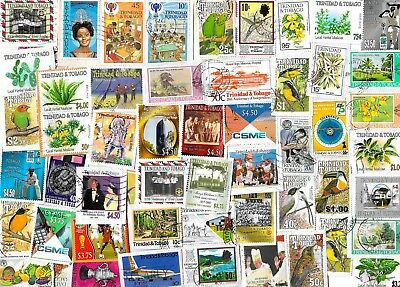 TRINIDAD & TOBAGO - Selection of Stamps on Paper - Approx 14 grams