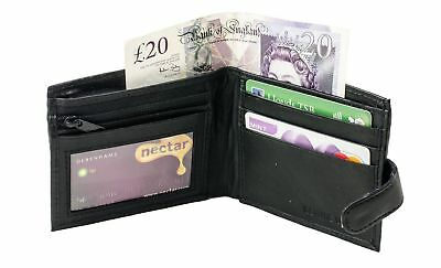 MENS GENUINE REAL SOFT LEATHER WALLET Black 1191