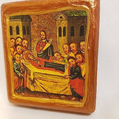 Dormition of Theotokos Mary Russian and Greek Eastern Orthodox Byzantine Icon