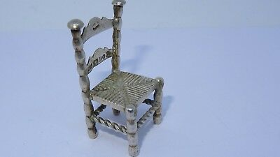 Solid silver Chair halmarked Samuel Boyce Landeck with Chinese stamped unique