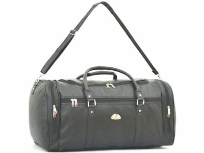 Leather Weekend Bag PU Look Travel Sports Cabin Gym Holdall Luggage KS9000