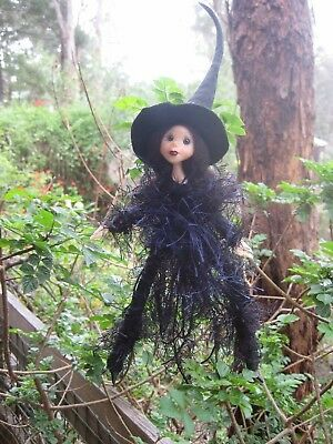 Black Kitchen Witch  - Hand made By Conny