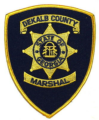 DEKALB COUNTY – MARSHAL - GEORGIA GA Police Sheriff Patch STATE SEAL OLD YELLOW