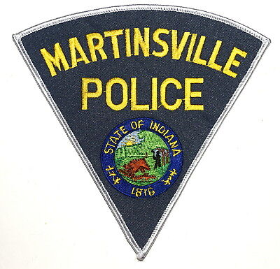 MARTINSVILLE INDIANA IN Police Sheriff Patch STATE SEAL BUFFALO SUNRISE EX LARGE