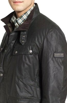 BRAND NEW WITH TAGS Barbour Duke Waxed Cotton Jacket in Sage Size M