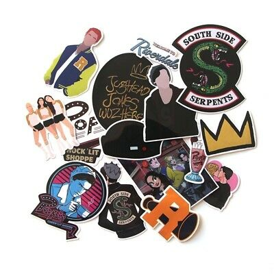 15Pcs/set Riverdale South Side Serpents Waterproof Stickers Phone Luggage Decals