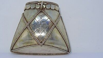 Antique solid silver tabaco pouch may be 17th century extremely unique.