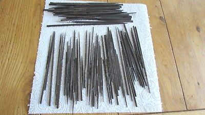 Vintage Watch Maker's or Jeweller's Needle Files X 82 - Various Makers - USED