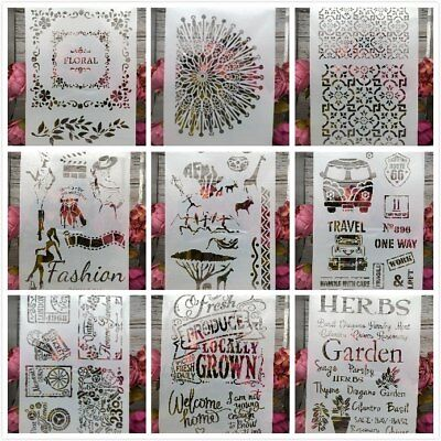 Herbs Garden Lady Words A4 Craft Layering Stencils Painting Embossing Template