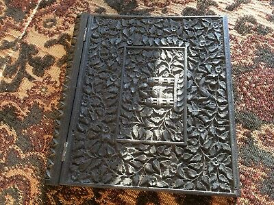 Indian Carved Wooden Blotter Cover, C1900