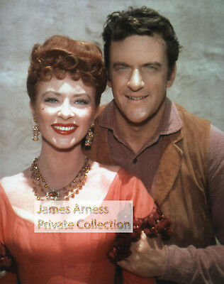 James Arness Private Collection Gunsmoke Young Matt & Kitty  8 x 10 Color Photo