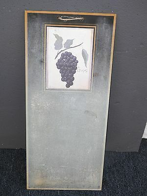 Rustic French Provincial Original Signed Bunch of Grapes Picture