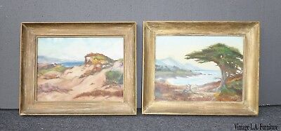 """Two Vintage """"Mantaña De Oro State Park"""" Signed Oil Painting Pictures"""