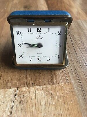 Vintage Starlet Travel Alarm Clock Made in Japan Collectable
