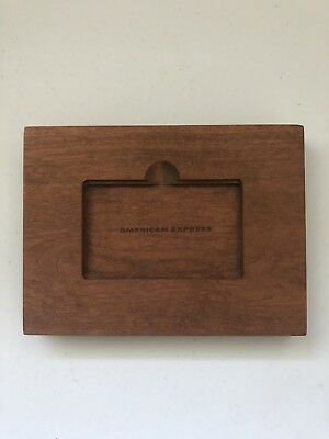 American Express Platinum Solid Wood Phone/Tablet/iPad Stand
