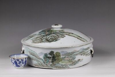 19/20th century,A beautiful 'famille rose' chinese porcelain tureen and cover