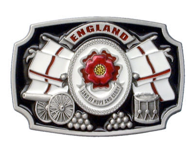 England - Land of Hope & Glory Belt Buckle