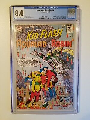 Brave and the Bold 54 CGC 8.0 | DC Comics 1964 | 1st Teen Titans & Origin!