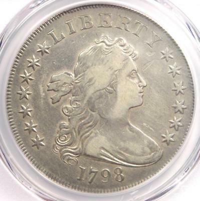 1798 Draped Bust Silver Dollar $1 - Certified PCGS VF Details - Rare Coin!