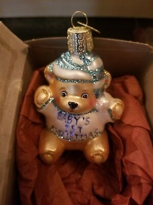 Babys First Cheistmas Old World Christmas Ornament