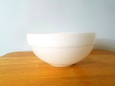 "Vintage Fire King White Glass Mixing Bowl 7 3/8"" COLONIAL BAND USA"