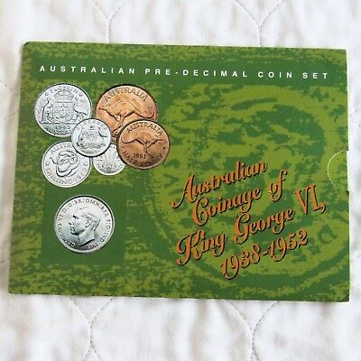 AUSTRALIA 1946 KING GEORGE VI 5 COIN YEAR SET WITH SILVER - sealed pack