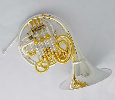 Professional Silver Gold Plated Double French Horn 103 Model Detachable Bell NEW