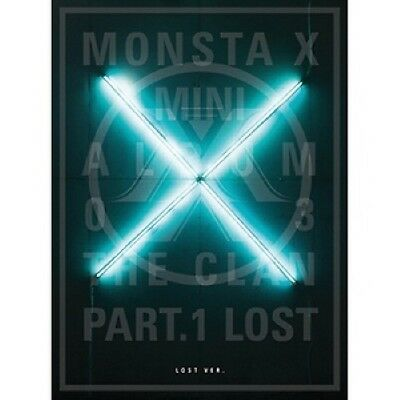 KPOP [Monsta X] The Clan Part.1 Lost Lost Ver. CD+Poster+PhotoBook+M.Book+Card