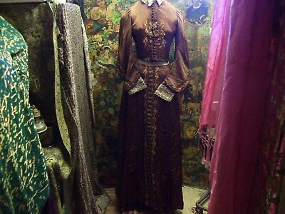 A antique, victorian skirt and bodice. Gorgeous bead work, to skirt, and bodice.