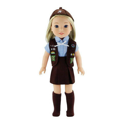 36cm Wellie Wishers Doll Clothes/Clothing | 5 Piece Girl Scouts Brownie