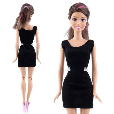(C) - Black Fashion Handmade Princess Dress Clothes Gown For Barbie Doll