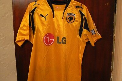 A Puma A.e.k Athens Football Supporters Shirt Uk Size Medium