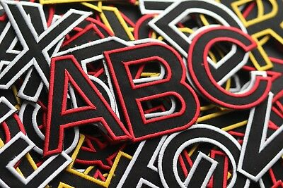 CHRISTMAS A-Z RED Letter Alphabet  Iron On / Sew On Patches Badges